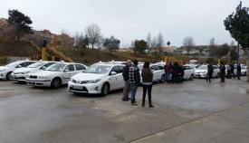 Imagen de archivo de una concentración de taxistas
