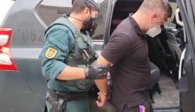 El líder del Clan de los Castañas detenido antes de ser conducido a los juzgados a declarar