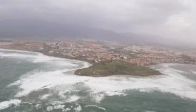 La zona se prepara para fuertes rachas de viento este domingo. Foto: NG