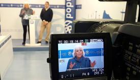 La diputada nacional del PP, Teófila Martínez, en rueda de prensa