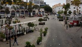 Terrazas cerradas en la plaza de Casamatas. Sergio Rodríguez.