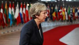 Theresa May, en una cumbre de la UE en una imagen de archivo