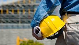 Trabajador obra construcción