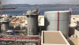 Estado actual de la construcción de la central eléctrica de GNL