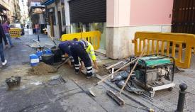 Los trabajos de la calle San Pablo