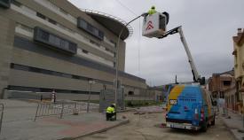 Las obras de asfaltado de la calle Gabriel Miró