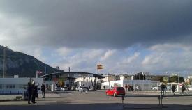 Paso de la verja de La Línea-Gibraltar