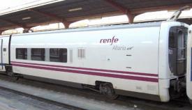 Un tren de Renfe en la Estación de Algeciras