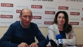 El responsable comarcal de CCOO en el Campo de Gibraltar, Manuel Triano