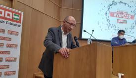 Manuel Triano, en su intervención en el congreso de CCOO