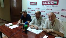 El secretario comarcal de CCOO, Manuel Triano,en rueda de prensa