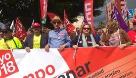 Triano y Serrano, en imagen de archivo de otra manifestación