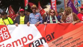 Sindicalistas del Campo de Gibraltar, en una reciente manifestación