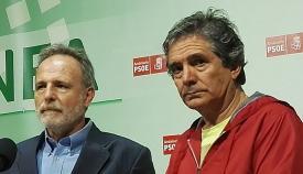 Juan José Uceda, portavoz de ASCTEG, a la derecha de la imagen
