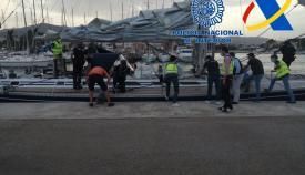 Intervenidas 35 toneladas de hachís en cuatro veleros, uno en Algeciras