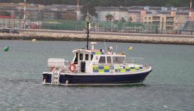 Una de las embarcaciones oficiales de Gibraltar