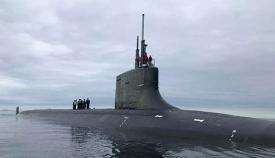 Submarino de la clase USS Seawolf en una imagen de archivo