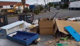 Imagen del vertedero de residuos denunciado por Verdemar en el Cortijo Real de Algeciras