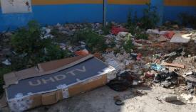 Imagen del vertedero denunciado por Verdemar en Algeciras. Foto Verdemar