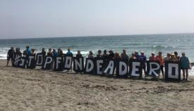 Imagen de una protesta anterior de Verdemar contra el fondeadero
