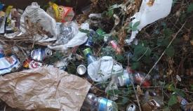 Basuras acumuladas en la urbanización La Aldea de Algeciras