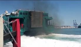 Imagen del ferry proporcionada por los ecologistas de Verdemar