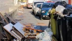 Residuos en el Parque Empresarial Las Marismas de Palmones, en Los Barrios