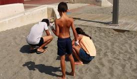 Otra de las limpiezas organizada por Verdemar en las playas de la comarca