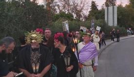 Protesta de Verdemar contra el proyecto de fondo de barril de Cepsa