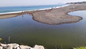 Desembocadura del río Guadiaro, en San Roque