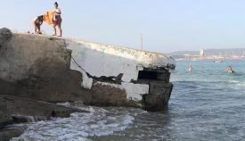 Imagen de uno de los fortines en una de las playas de la Bahía de Algeciras