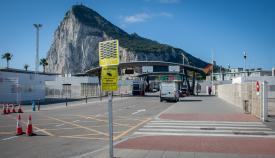 Paso por la aduana de la Verja de Gibraltar. Foto Sergio Rodríguez