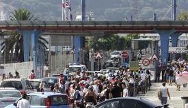 Una imagen de archivo del paso fronterizo