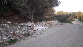Imagen del vertedero denunciado por los ecologistas. Foto Verdemar