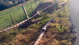 Imagen de las tuberías cedida por el sindicato CCOO