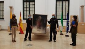 Recepción de la obra de Vicente Vela. Foto Ayuntamiento Algeciras