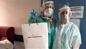 APM Terminals Algeciras fabrica viseras de protección contra el Covid-19