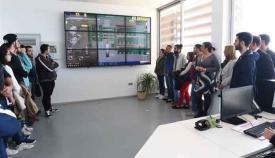 Visita de escolares a las instalaciones de la EDAR de Algeciras, en imagen de archivo
