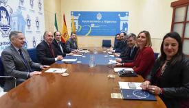 Un momento de la reunión celebrada en el Ayuntamiento de Algeciras
