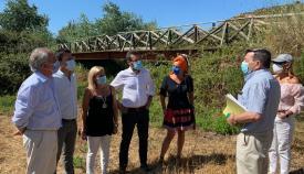 El delegado de Agricultura visita la vía pecuaria Zabal/Puerta del Higuerón