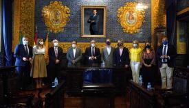 Los alcaldes de Linares, Guarromán y Bailén, recibidos en Algeciras