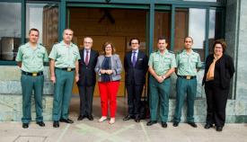 Paraskevi Michou fue recibida en la Comandancia de Algeciras de la Guardia Civil
