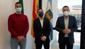 El diputado de Cultura, junto a Mario Fernández y Juan Franco. Foto: lalínea.es