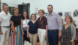 El alcalde de La Línea ha visitado hoy la exposición del 50 aniversario de Asansull