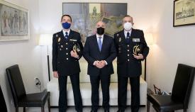 Landaluce recibe al nuevo comisario jefe de Operaciones de la Policía