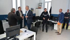 Visita a las nuevas dependencias de la Policía Local