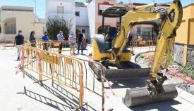 Las obras en Villa Blanca y Villa Rosa de Algeciras, en su tramo final