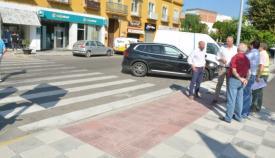 El alcalde, Juan Carlos Ruiz Boix, visitó Pueblo Nuevo de Guadiaro