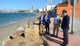 Landaluce y Ruiz Boix, durante la visita.