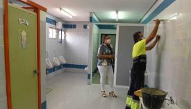 Las obras del colegio Campo de Gibraltar en Algeciras siguen su curso